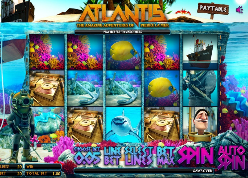 Set Sail      for Adventure with Atlantis Slot Game