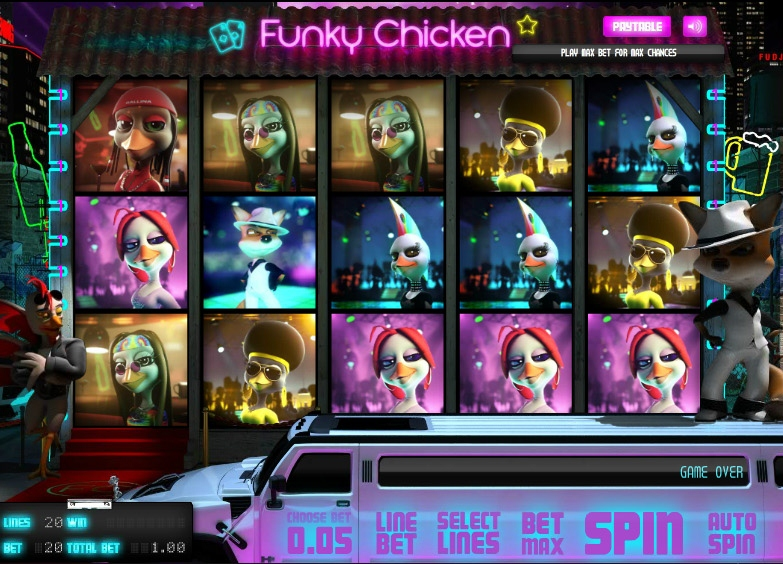 Funky Chicken:      The Funkiest Slot Game Around