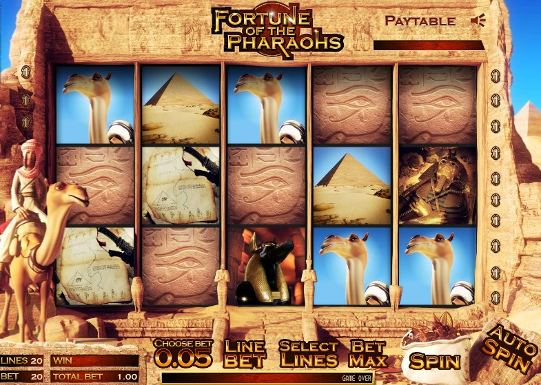 Visit Egypt       in the Slot Game Fortune of the Pharoahs