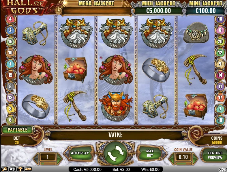 Hall of Gods is a Slot       That Brings the Thunder
