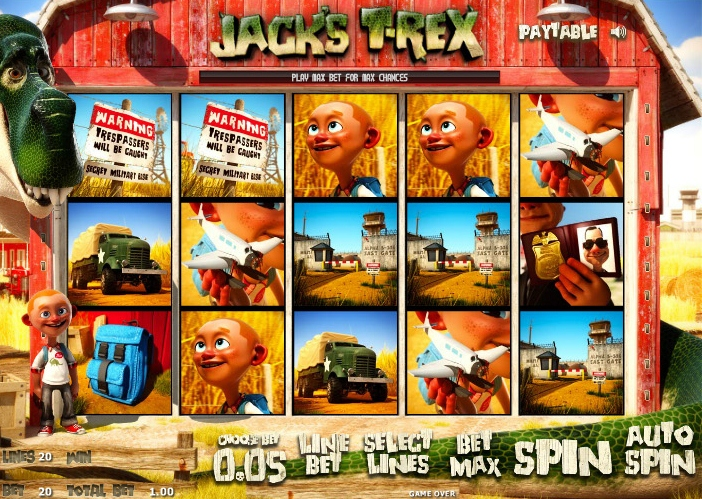 Jack's T-Rex May Be the Most Entertaining Slot Ever