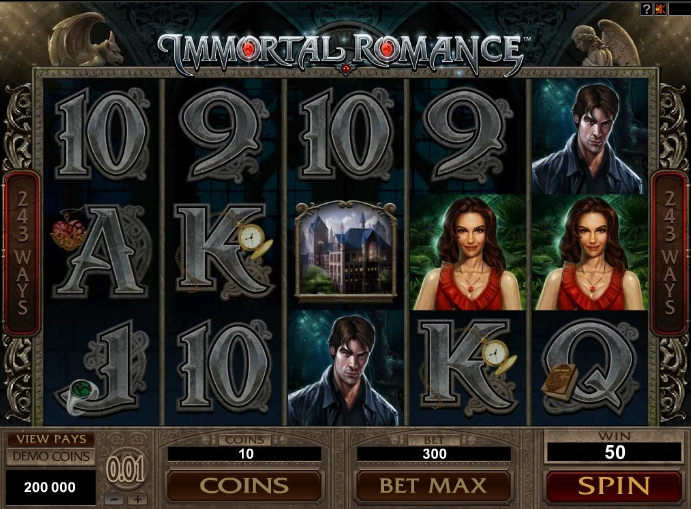 Enter a World     of Intrigue   in the Immortal Romance Slot