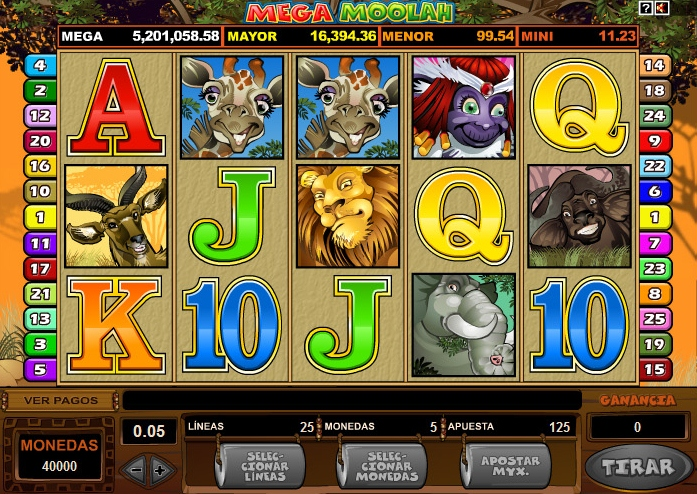 Mega Moolah:      A Jungle-Themed Slot Packed with Prizes