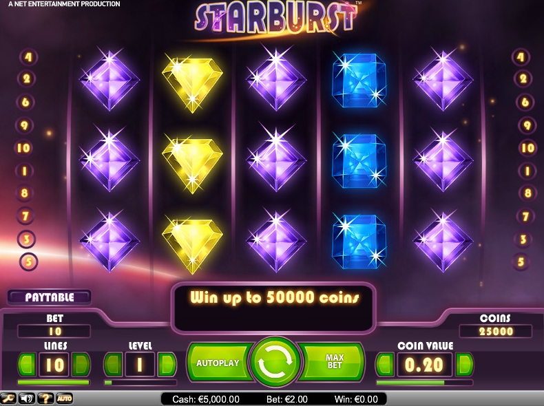 Starburst is a Sleek Sci-Fi Slot Game